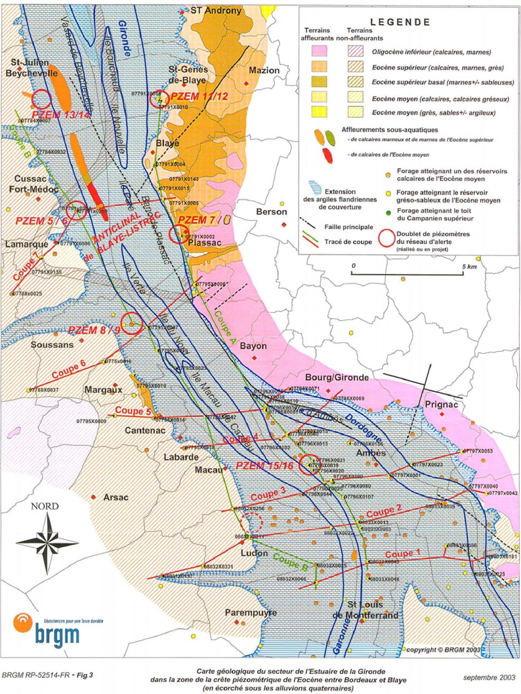 Géologie du Blayais   SIGES Aquitaine   ©2018